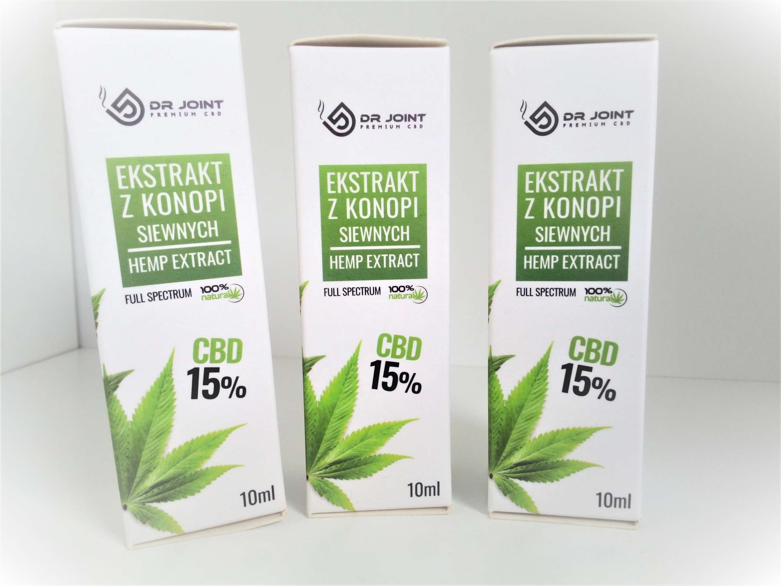 Olejek Konopny  Full Spectrum CBD CO2 Dr Joint 3X 15 % 1500mg 10ml