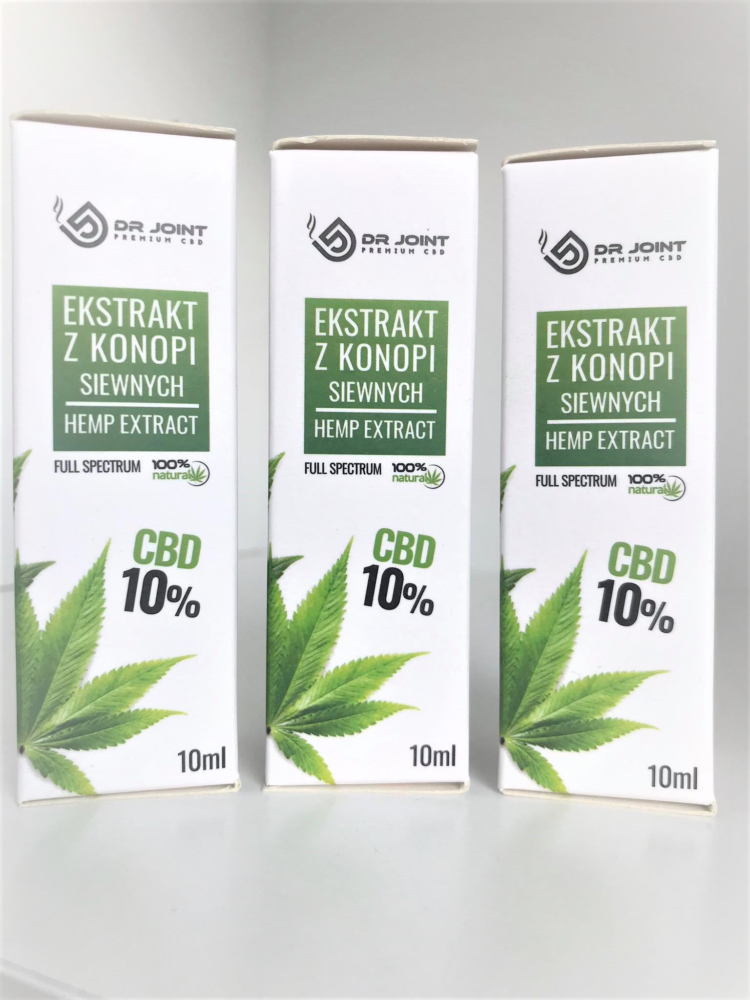 Olejek Konopny  Full Spectrum CBD CO2 Dr Joint 3X 10 % 1000mg 10ml