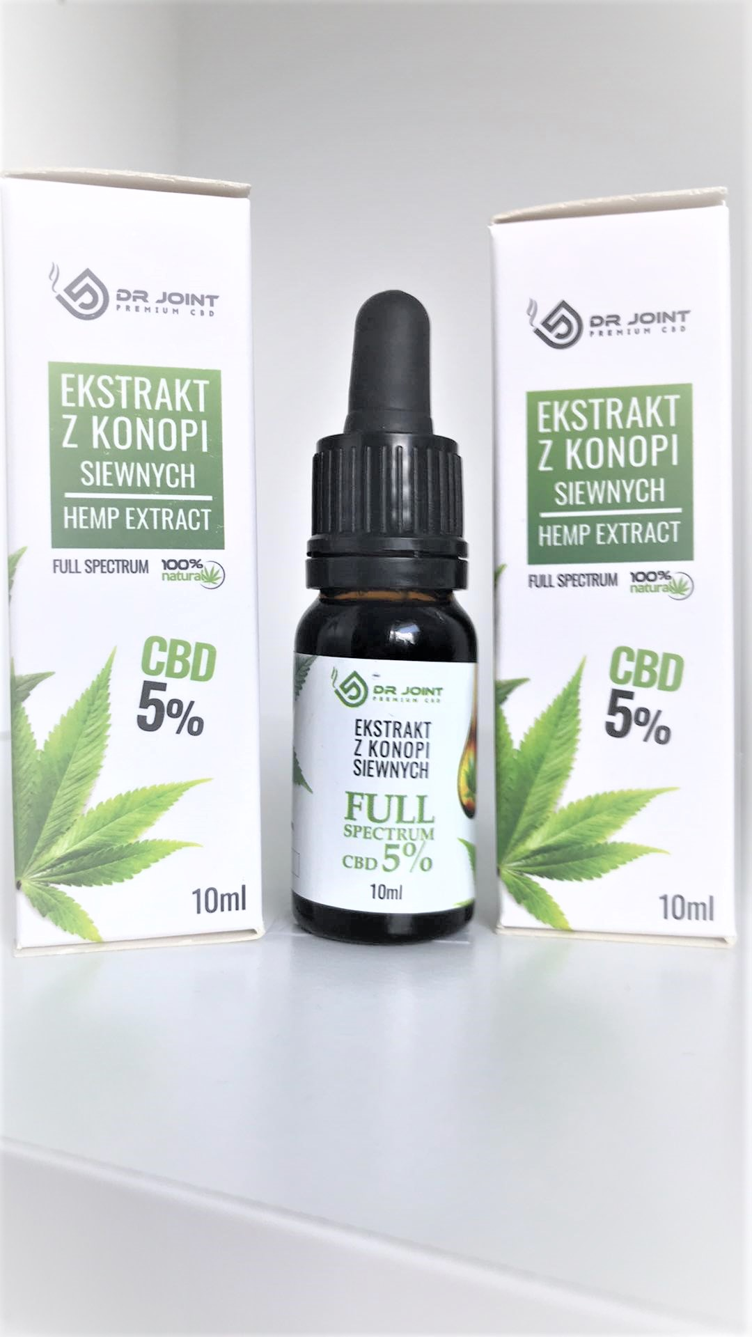 Olejek Konopny  Full Spectrum CBD CO2 Dr Joint 3 X 5 % 500mg 10ml